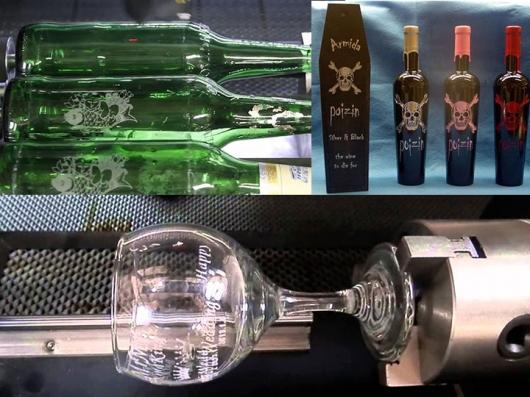 Khắc thủy tinh khắc kính khắc pha lê khắc laser thủy tinh giá rẻ