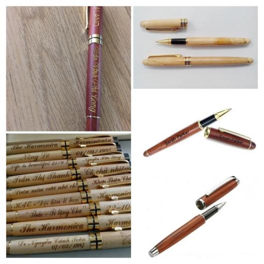 Bút gỗ có nắp