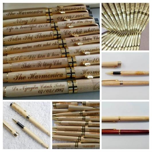Sản xuất bút gỗ khắc tên viết gỗ giá rẻ tại Sài Gòn
