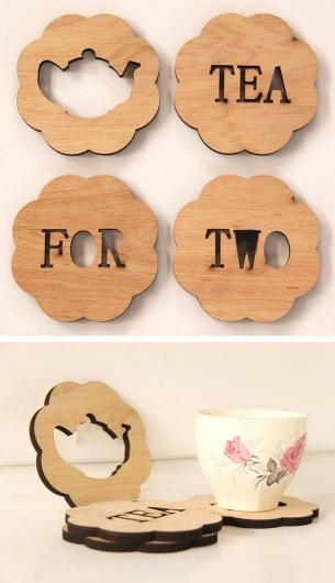 Sản xuất đế lót ly gỗ dùng ly uống trà
