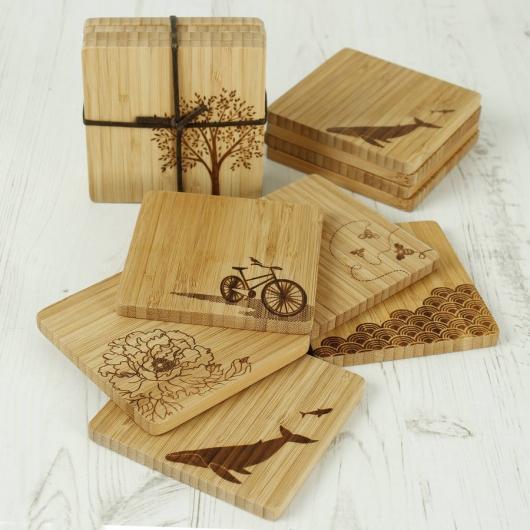 Sản xuất đế lót ly gỗ