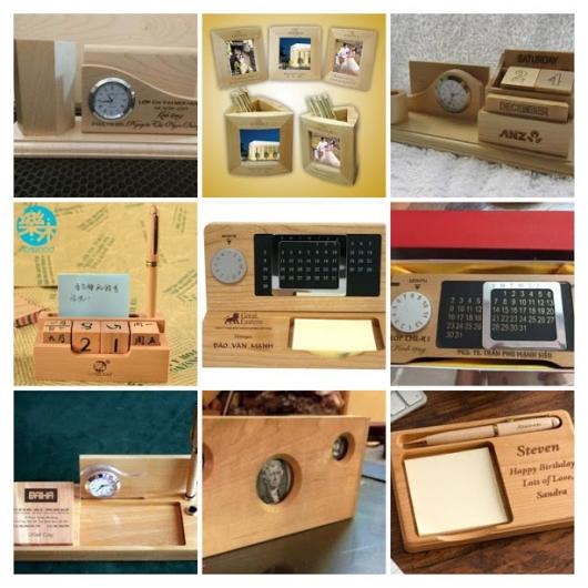 Sản xuất quà tặng gỗ để bàn