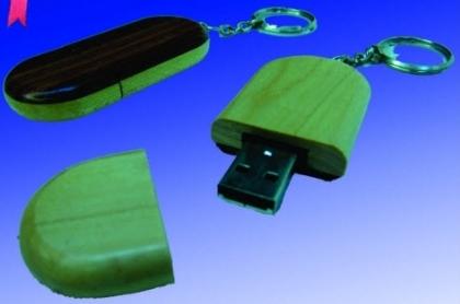 Usb gỗ hình oval